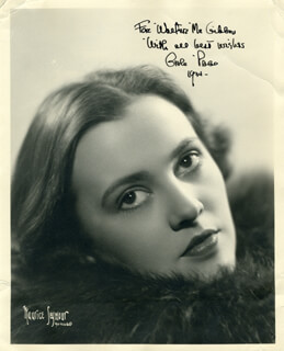 GALE PAGE - AUTOGRAPHED INSCRIBED PHOTOGRAPH 1934