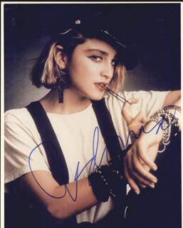 MADONNA - AUTOGRAPHED SIGNED PHOTOGRAPH