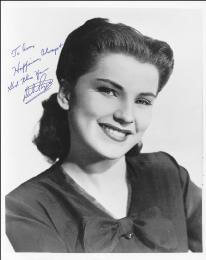 DEBRA PAGET - AUTOGRAPHED SIGNED PHOTOGRAPH