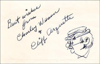 CLIFF CHARLEY WEAVER ARQUETTE - SELF-CARICATURE SIGNED