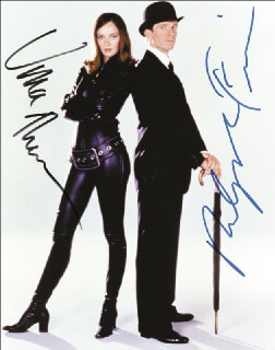 THE AVENGERS MOVIE CAST - AUTOGRAPHED SIGNED PHOTOGRAPH CO-SIGNED BY: UMA THURMAN, RALPH FIENNES