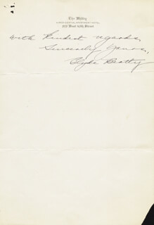 CLYDE BEATTY - AUTOGRAPH LETTER SIGNED