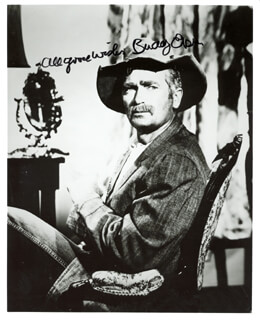 BUDDY EBSEN - AUTOGRAPHED SIGNED PHOTOGRAPH