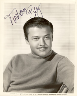 TURHAN BEY - AUTOGRAPHED SIGNED PHOTOGRAPH  - HFSID 226576