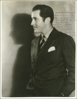 Autographs: JOHN BOLES - INSCRIBED PHOTOGRAPH SIGNED 05/12/1936