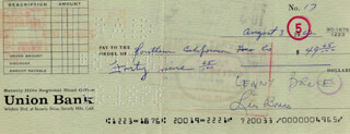 LENNY BRUCE - AUTOGRAPHED SIGNED CHECK 08/03/1962