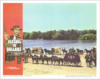 Autographs: CLINT EASTWOOD - LOBBY CARD UNSIGNED (USA) 1966