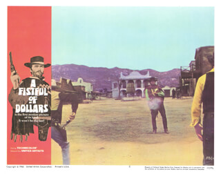CLINT EASTWOOD - LOBBY CARD UNSIGNED (USA) 1966