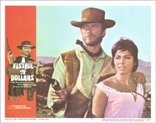Autographs: CLINT EASTWOOD - LOBBY CARD UNSIGNED (USA)