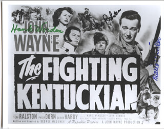 THE FIGHTING KENTUCKIAN MOVIE CAST - AUTOGRAPHED SIGNED PHOTOGRAPH CO-SIGNED BY: HANK WORDEN, MARIE WINDSOR, VERA H. RALSTON