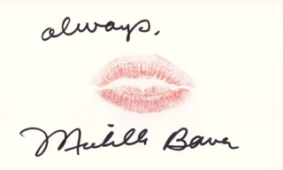 MICHELLE BAUER - LIP PRINT SIGNED