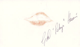 GAIL ROBYN HARRIS - LIP PRINT SIGNED