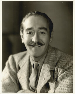 ADOLPHE MENJOU - AUTOGRAPHED INSCRIBED PHOTOGRAPH