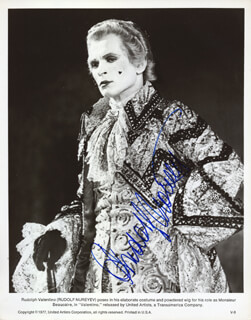 RUDOLF NUREYEV - PRINTED PHOTOGRAPH SIGNED IN INK