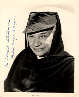 MARIA OUSPENSKAYA - AUTOGRAPHED INSCRIBED PHOTOGRAPH CIRCA 1947