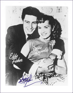 DEBBIE REYNOLDS - AUTOGRAPHED SIGNED PHOTOGRAPH CO-SIGNED BY: EDDIE FISHER