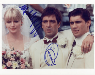 SCARFACE MOVIE CAST - AUTOGRAPHED SIGNED PHOTOGRAPH CO-SIGNED BY: MICHELLE PFEIFFER, AL PACINO