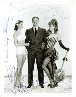 EASY TO WED MOVIE CAST - AUTOGRAPHED INSCRIBED PHOTOGRAPH CO-SIGNED BY: LUCILLE LUCY BALL, ESTHER WILLIAMS, VAN JOHNSON