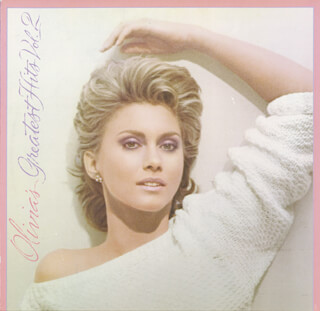 OLIVIA NEWTON-JOHN - RECORD ALBUM COVER SIGNED