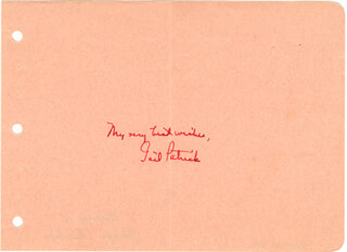 GAIL PATRICK - AUTOGRAPH SENTIMENT SIGNED