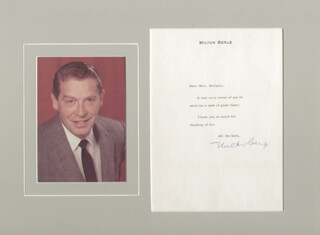 MILTON BERLE - TYPED NOTE SIGNED