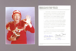 MILTON BERLE - DOCUMENT SIGNED 04/28/1989
