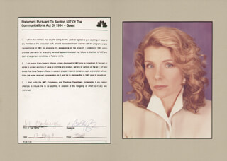 JILL CLAYBURGH - DOCUMENT SIGNED 05/17/1991