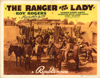 Autographs: ROY ROGERS - LOBBY CARD SIGNED