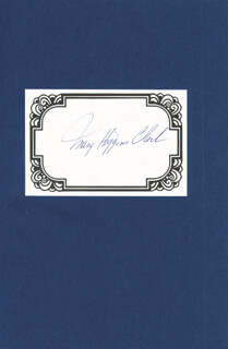 MARY HIGGINS CLARK - BOOK SIGNED CIRCA 1993