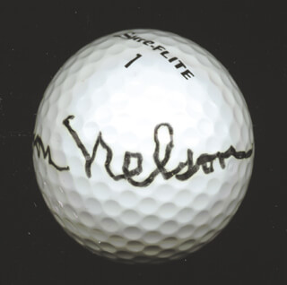 BYRON NELSON - GOLF BALL SIGNED