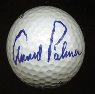 ARNOLD PALMER - GOLF BALL SIGNED