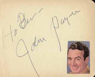JOHN PAYNE - INSCRIBED SIGNATURE