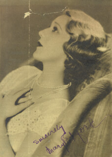 MARY PICKFORD - MAGAZINE PHOTOGRAPH SIGNED