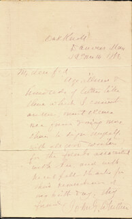 JOHN GREENLEAF WHITTIER - AUTOGRAPH LETTER SIGNED 11/19/1886