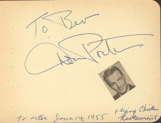 DON PORTER - INSCRIBED SIGNATURE CIRCA 1955