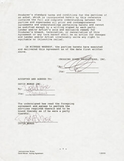 DAVID MORSE - CONTRACT DOUBLE SIGNED 12/28/1993