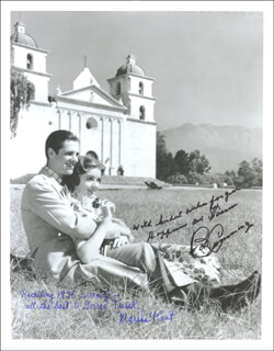 HOLLYWOOD BOULEVARD MOVIE CAST - AUTOGRAPHED SIGNED PHOTOGRAPH CO-SIGNED BY: ROBERT BOB CUMMINGS, MARSHA HUNT
