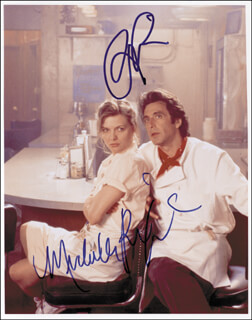 FRANKIE AND JOHNNY MOVIE CAST - AUTOGRAPHED SIGNED PHOTOGRAPH CO-SIGNED BY: MICHELLE PFEIFFER, AL PACINO