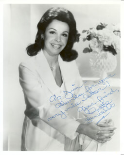 ANNETTE FUNICELLO - AUTOGRAPHED INSCRIBED PHOTOGRAPH
