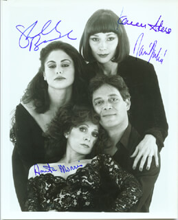 NINE BROADWAY CAST - AUTOGRAPHED SIGNED PHOTOGRAPH CO-SIGNED BY: RAUL JULIA, KAREN AKERS, ANITA MORRIS, SHELLY BURCH