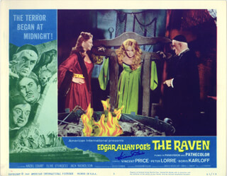 VINCENT PRICE - LOBBY CARD SIGNED