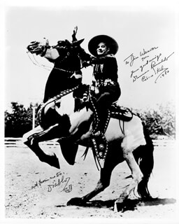 DUNCAN THE CISCO KID RENALDO - AUTOGRAPHED INSCRIBED PHOTOGRAPH 1980