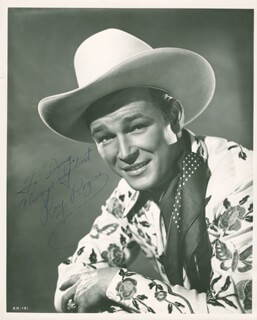 ROY ROGERS - AUTOGRAPHED INSCRIBED PHOTOGRAPH