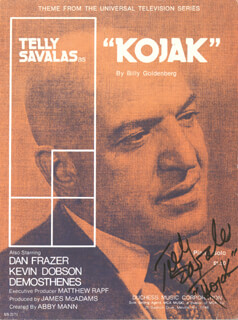 TELLY SAVALAS - SHEET MUSIC SIGNED