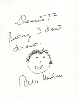 VERA MILES - INSCRIBED SELF-CARICATURE SIGNED