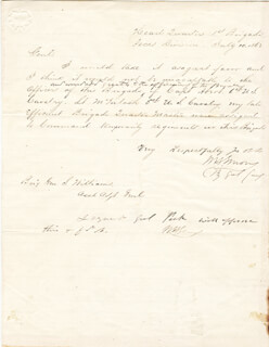 Autographs: MAJOR GENERAL WILLIAM H. EMORY - AUTOGRAPH LETTER DOUBLE SIGNED 07/10/1862