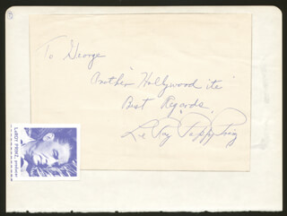 LEROY PAPPY PRINZ - AUTOGRAPH NOTE SIGNED