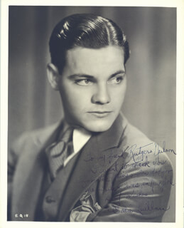 EDWARD EDDIE QUILLAN - AUTOGRAPHED INSCRIBED PHOTOGRAPH