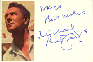 SIR MICHAEL REDGRAVE - AUTOGRAPH NOTE SIGNED