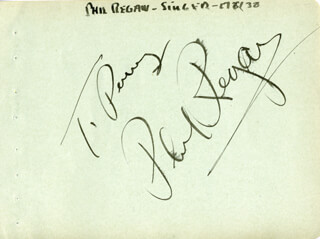 PHIL REGAN - INSCRIBED ALBUM LEAF SIGNED CIRCA 1938
